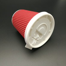 hot sale plastic paper cup lid with tear tab